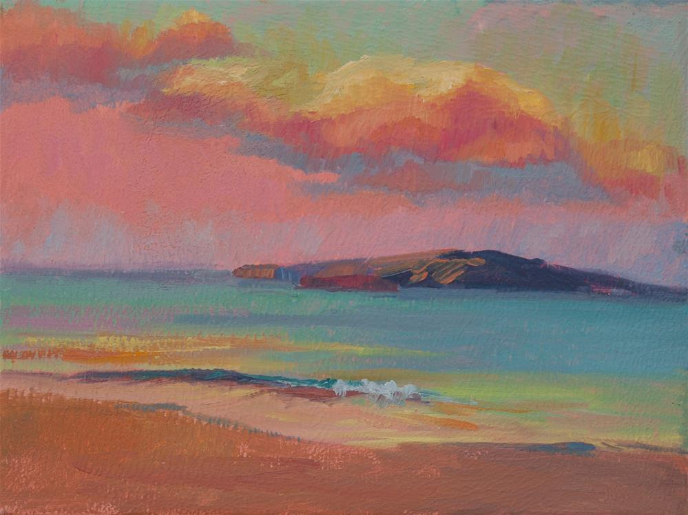 """SUNRISE KAHO'OLAWE"" original fine art by Karen E Lewis"