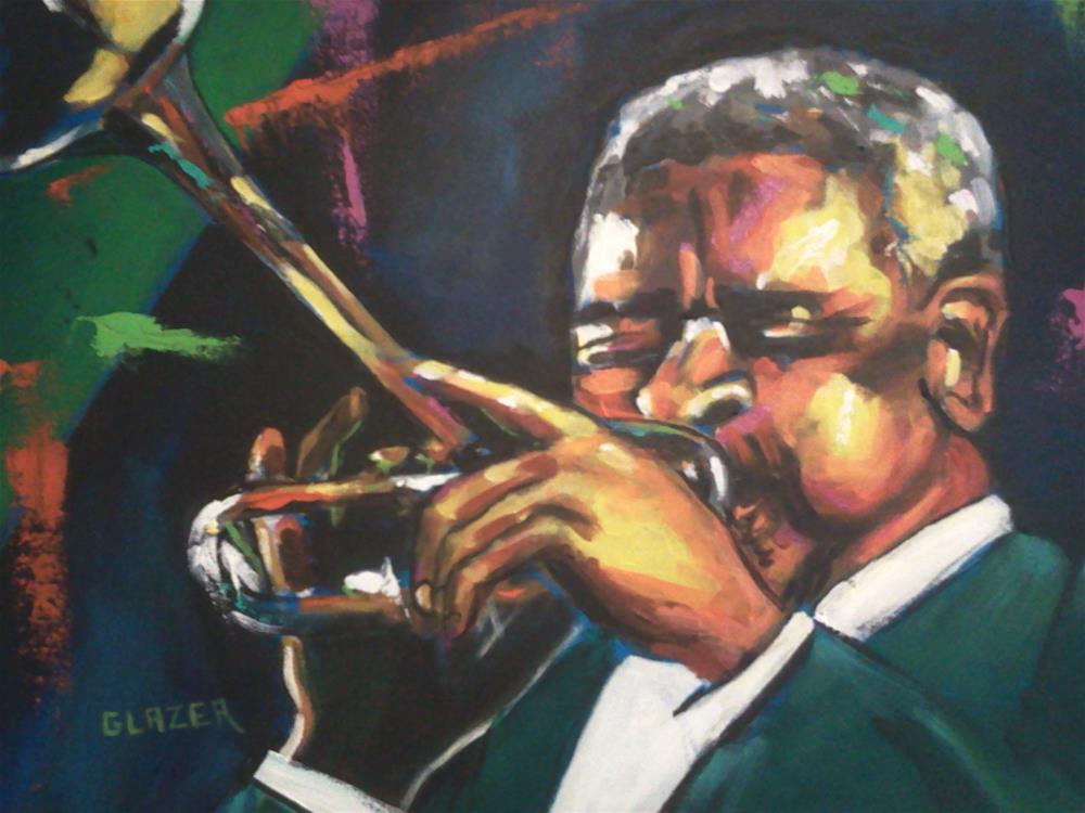 """""""Dizzy Gillespie"""" original fine art by Stuart Glazer"""