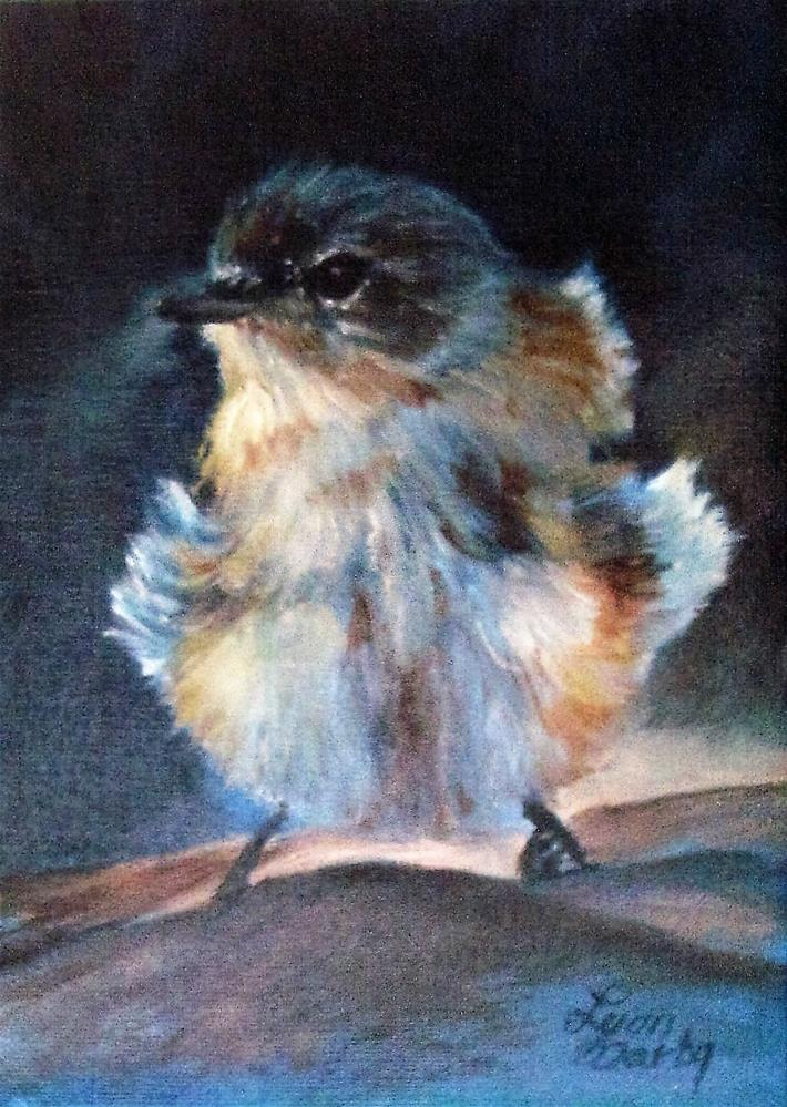 """Chiff Chaff Chick"" original fine art by Lynn Darby"