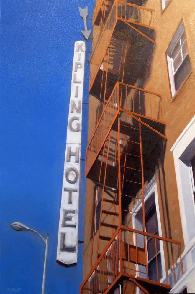 """Kipling Hotel"" original fine art by Dan Graziano"