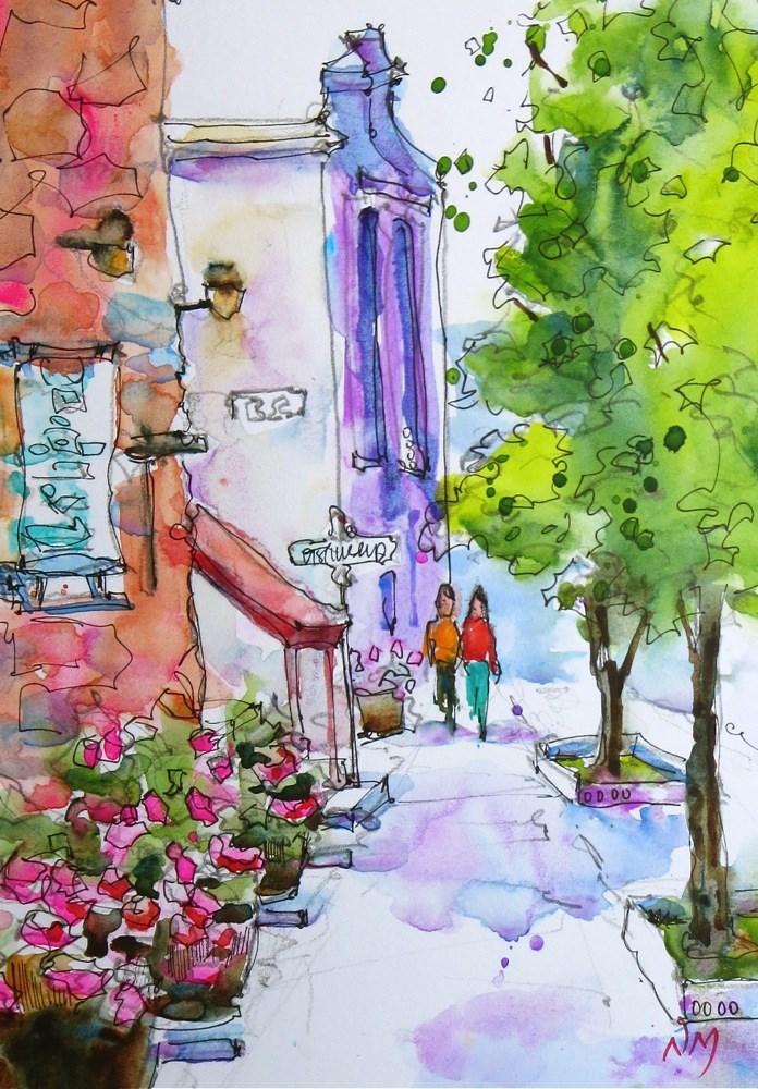 """Saturday stroll"" original fine art by Nora MacPhail"