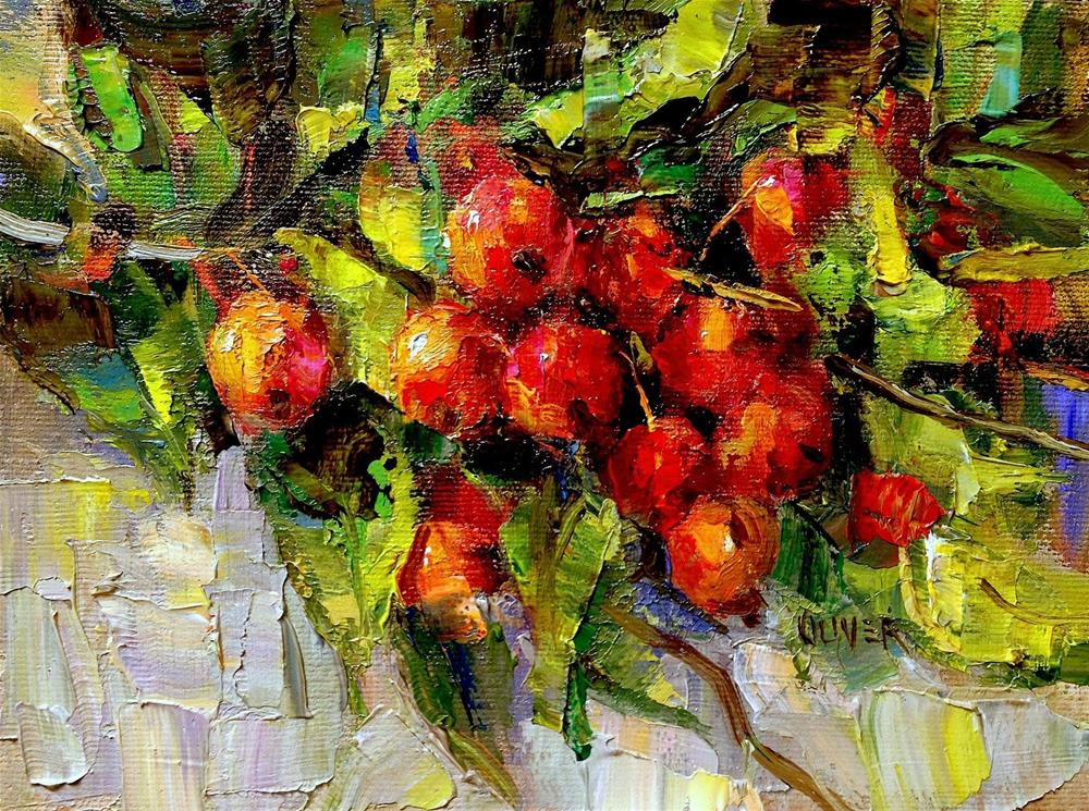 """Crabapple Branch"" original fine art by Julie Ford Oliver"