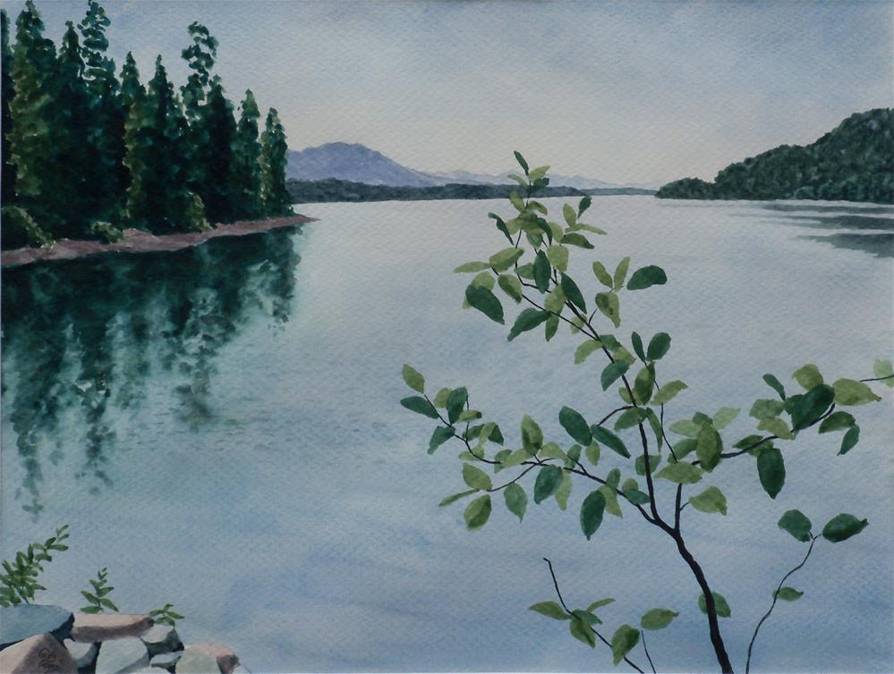 """Whitefish Lake II"" original fine art by Greg Arens"
