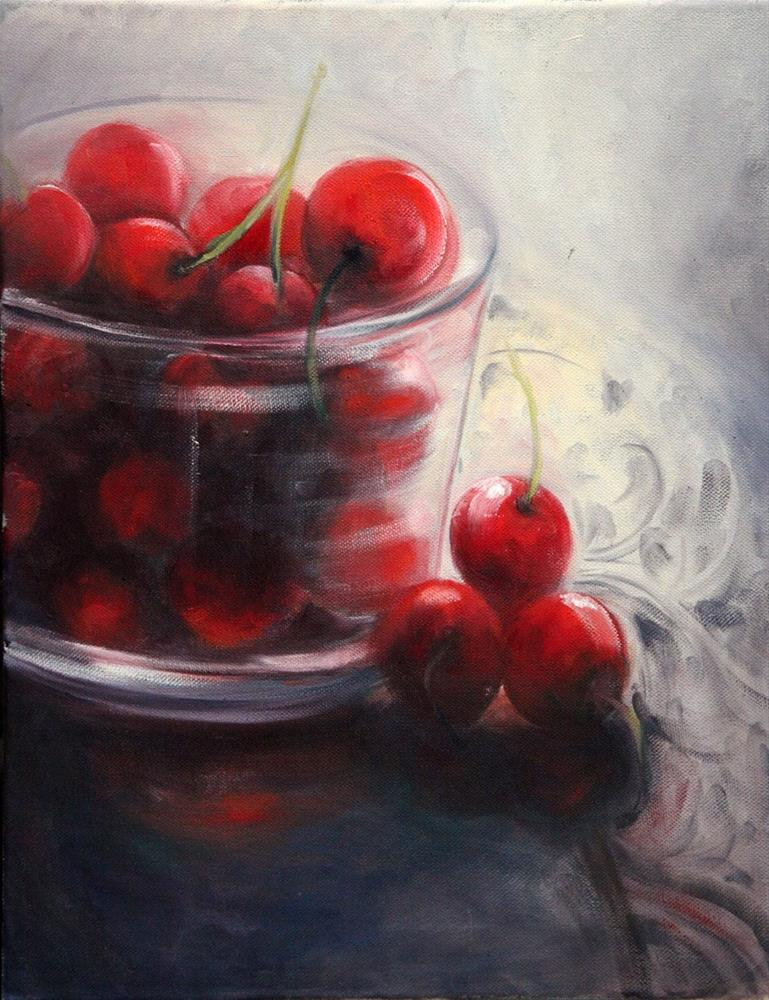 """a cherry affair"" original fine art by Ronel Alberts"
