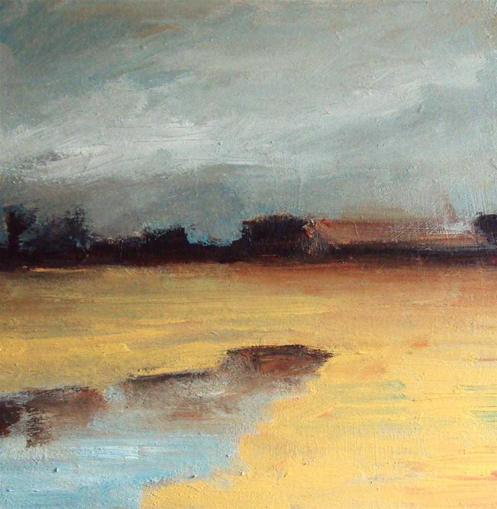 """Autumn fields"" original fine art by Parastoo Ganjei"