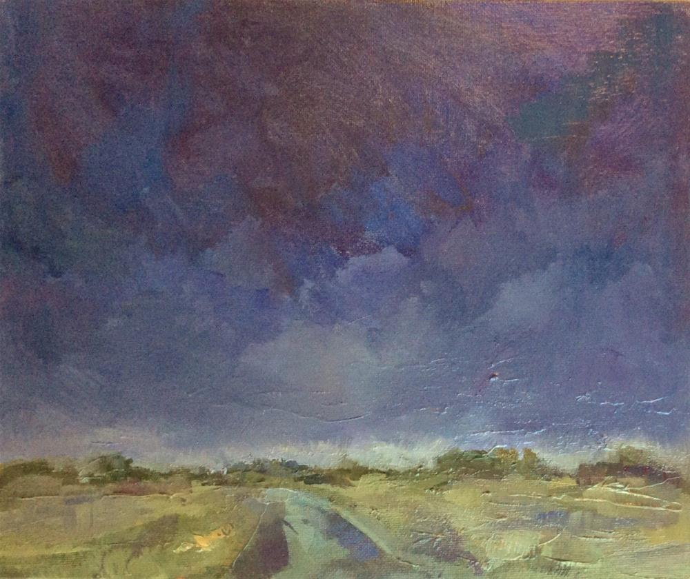 """Stormy journey home"" original fine art by Anne Wood"