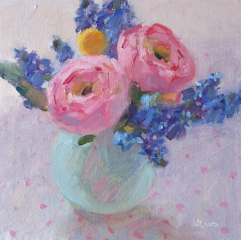"""Still Life with Ranunculus"" original fine art by Lena  Rivo"