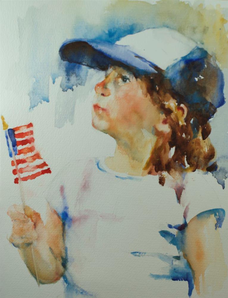 """July 4th"" original fine art by Sue Churchgrant"