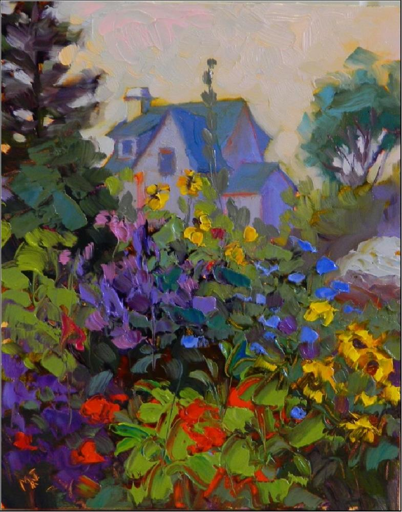 """Summer Garden, Monhegan Island"" original fine art by Maryanne Jacobsen"