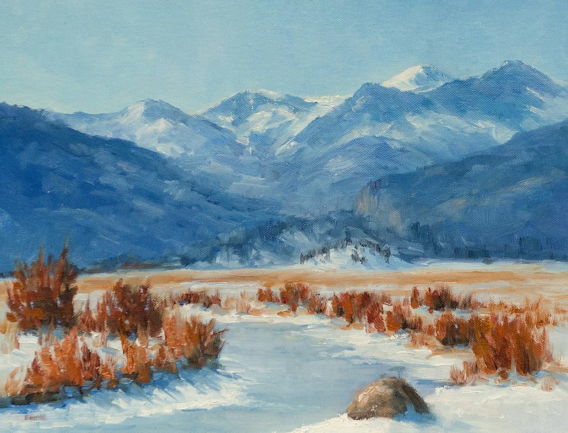 """Moraine Park"" original fine art by Bonnie Bowne"