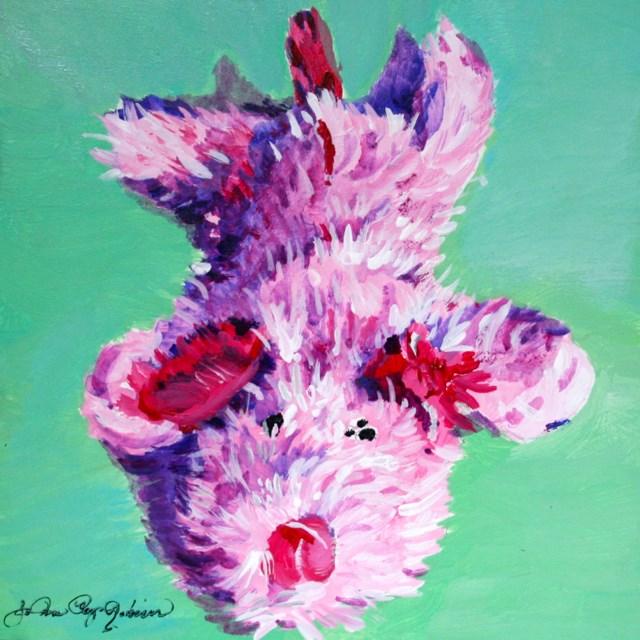 """Pink Pooch Toy"" original fine art by JoAnne Perez Robinson"