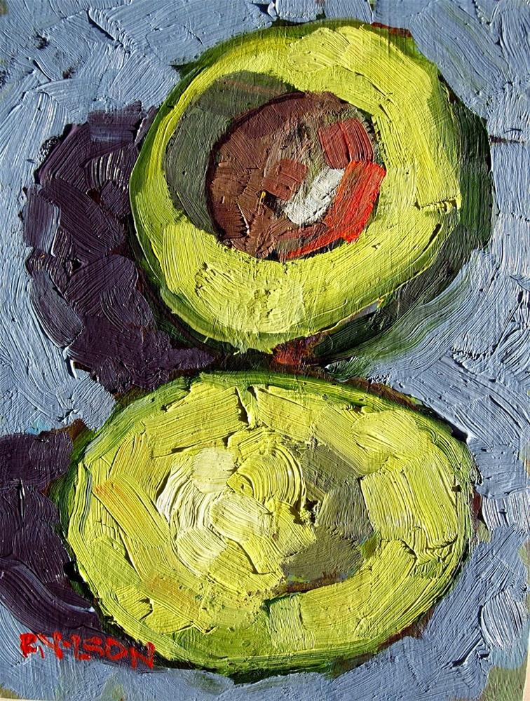 """Green on Guacamole"" original fine art by Rick Nilson"
