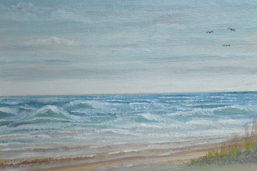 """Galveston Island"" original fine art by Janice Bartke Thompson"