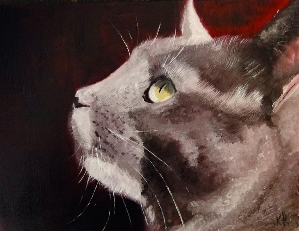 """Is it dinner time?"" original fine art by Karen Robinson"