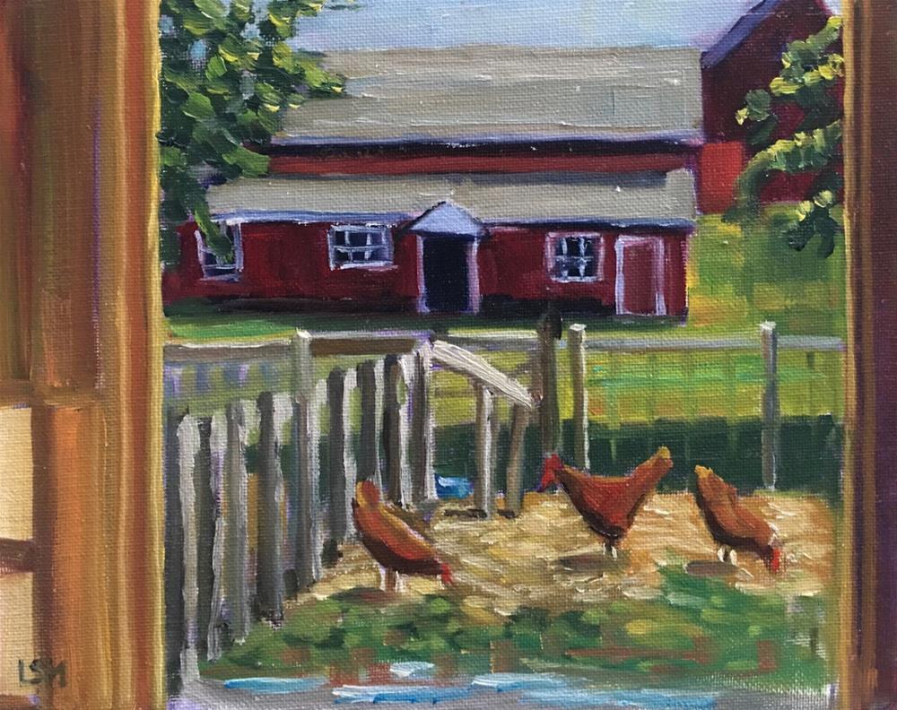 """Through the Barn Door"" original fine art by Linda Marino"