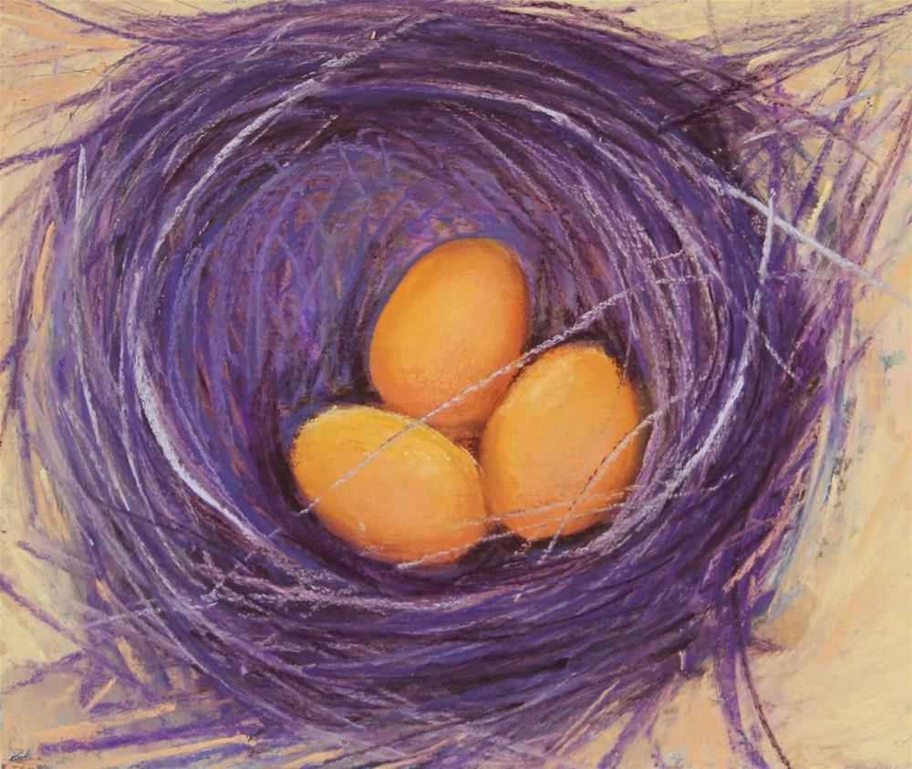 """A Nest of a Different Color"" original fine art by Sharon Lewis"