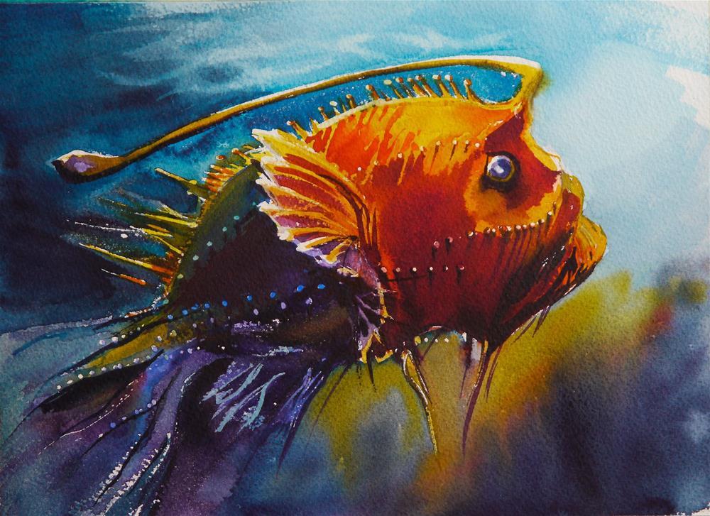 """fish-2"" original fine art by Beata Musial-Tomaszewska"