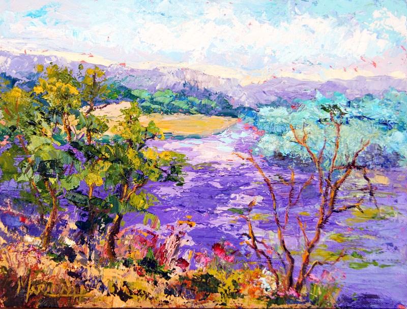 """Lavender Fields"" original fine art by Marion Hedger"