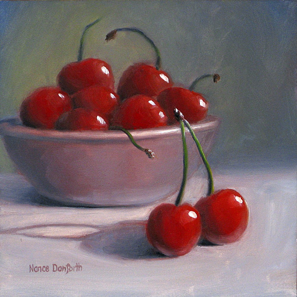 """Sweet Cherries"" original fine art by Nance Danforth"