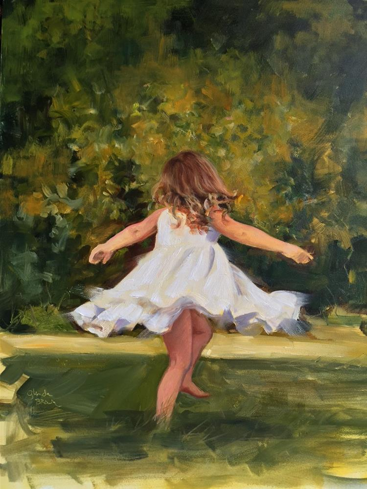 """Twirl"" original fine art by Glenda Shaw Brown"