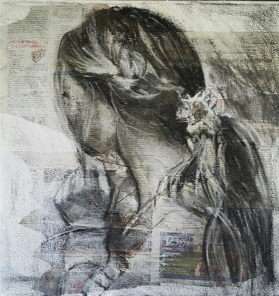 """Flower in her hair"" original fine art by Rentia Coetzee"