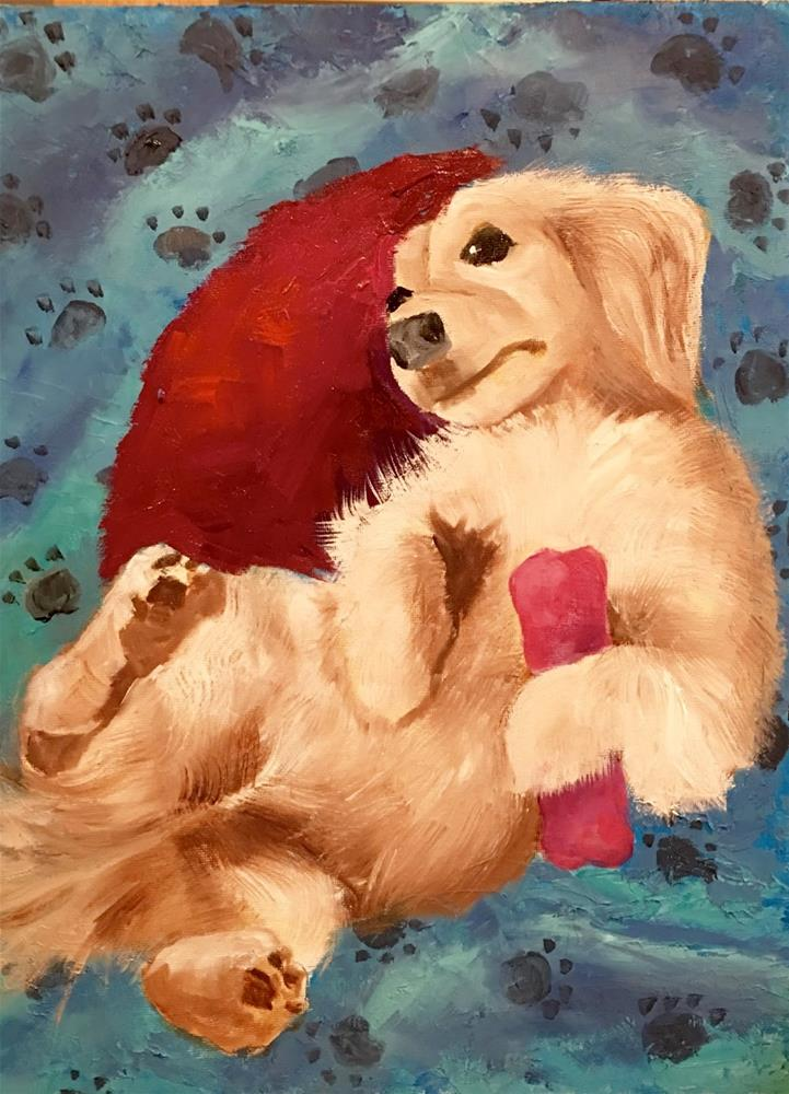 """Lexi in Studio"" original fine art by Phyllis Davis"