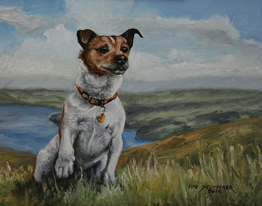 """""""Parson Russell Terrier"""" original fine art by Sue Deutscher"""