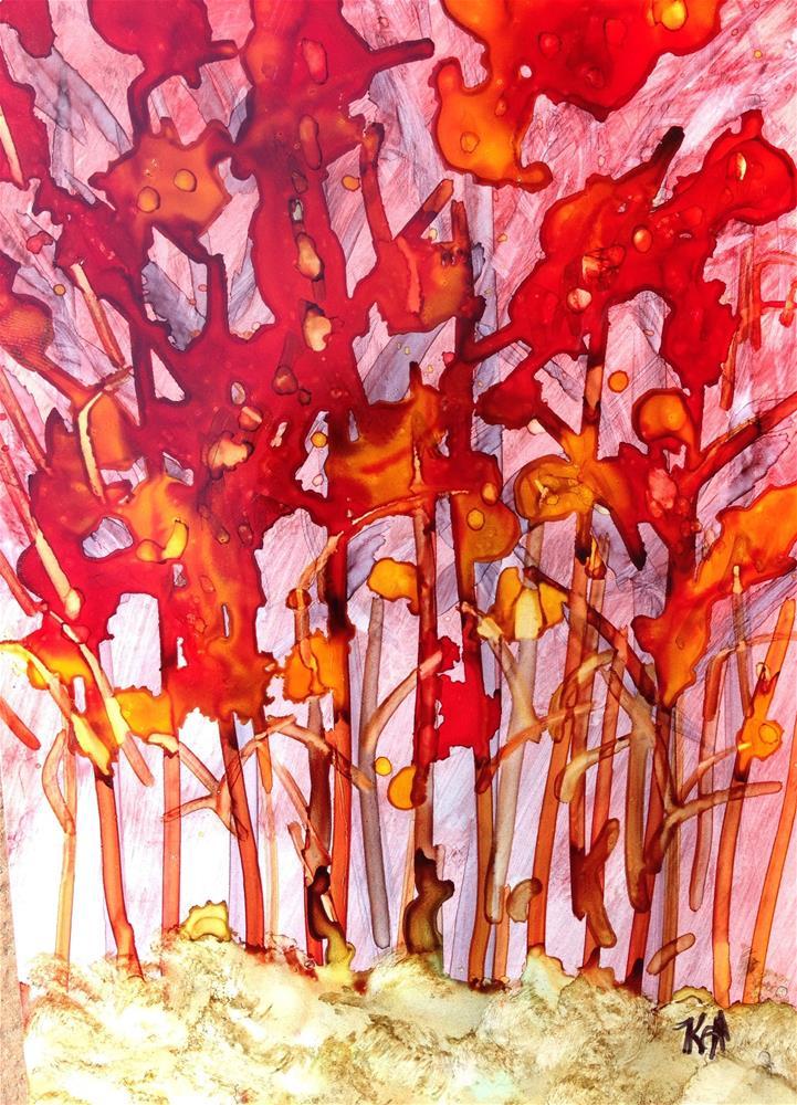 """""""Fire Corn"""" original fine art by Kris Alge"""