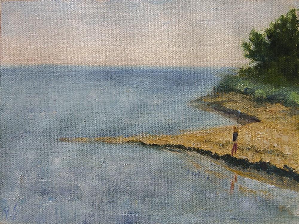 """Morning at the Beach June 2016"" original fine art by Rachel Steely"