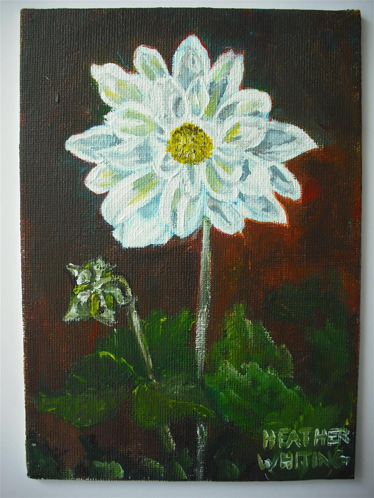 """Dahlia Parent and Baby"" original fine art by Heather Whiting"