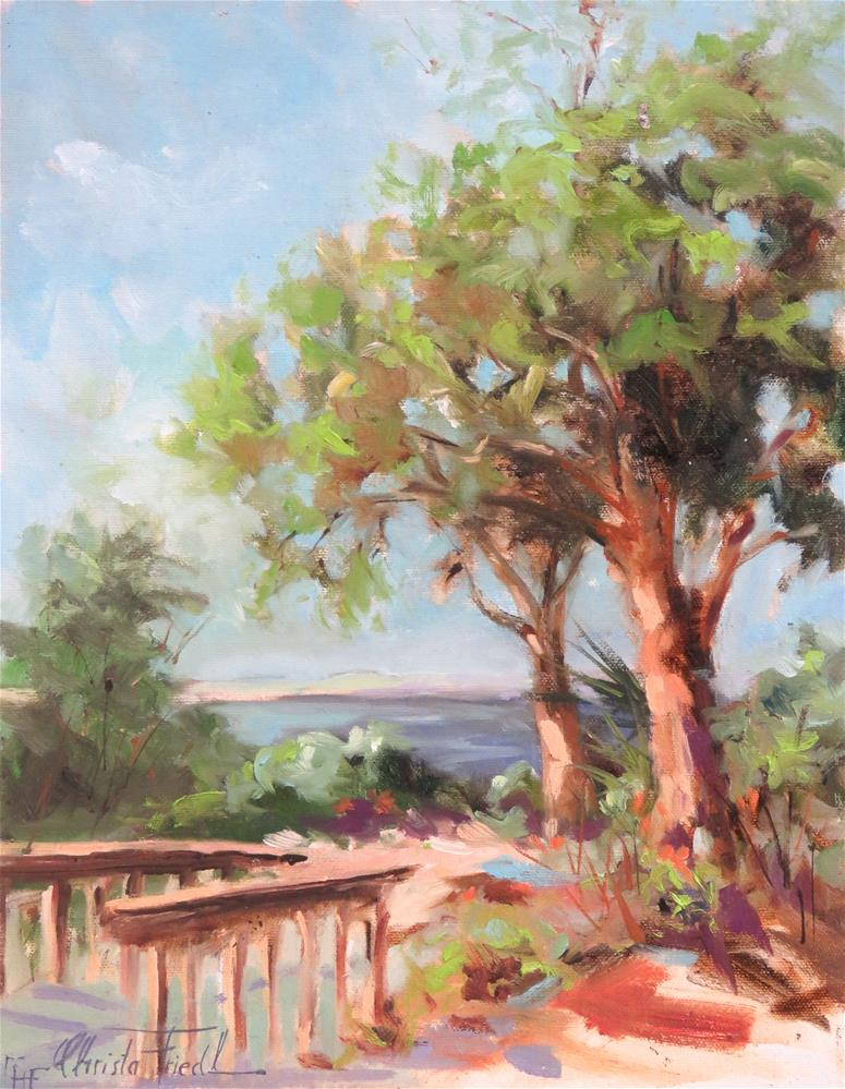"""Path to the Beach"" original fine art by Christa Friedl"
