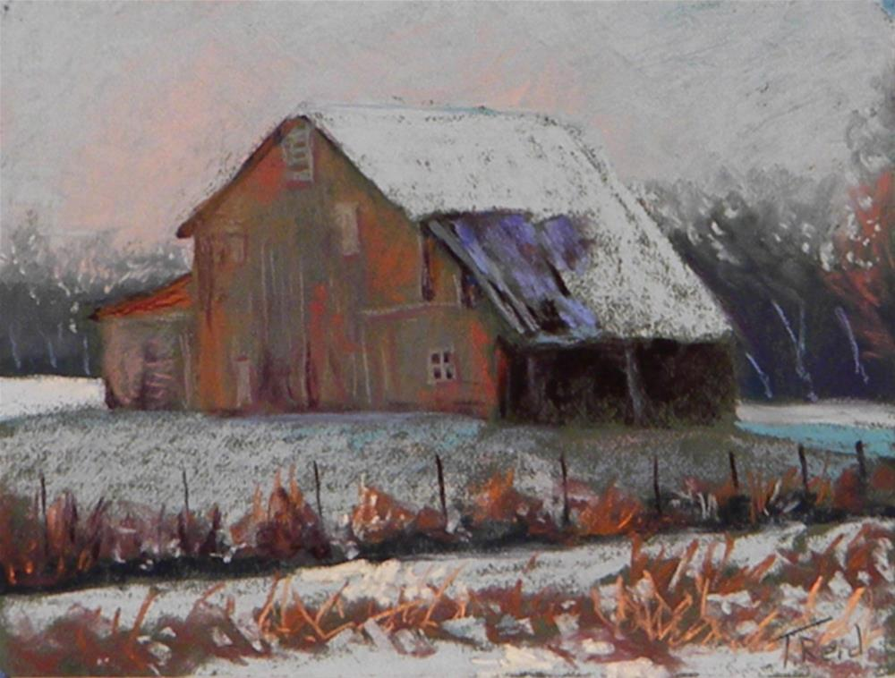 """Red Barn"" original fine art by Toby Reid"