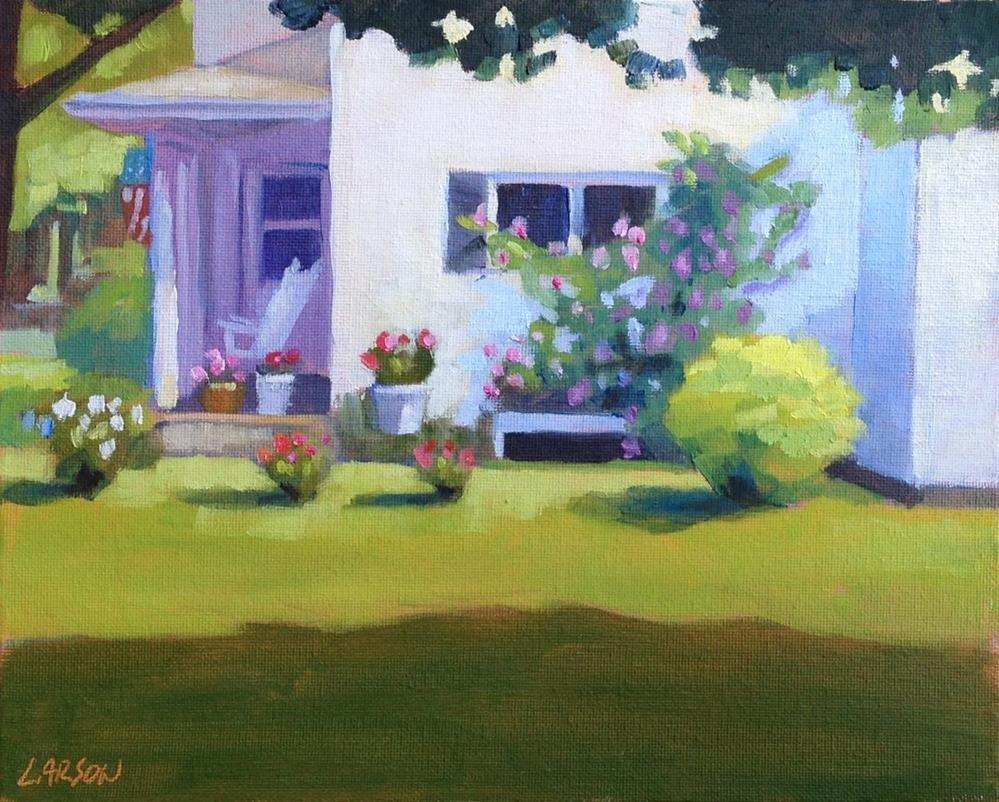 """Omi's Garden"" original fine art by Eric Larson"