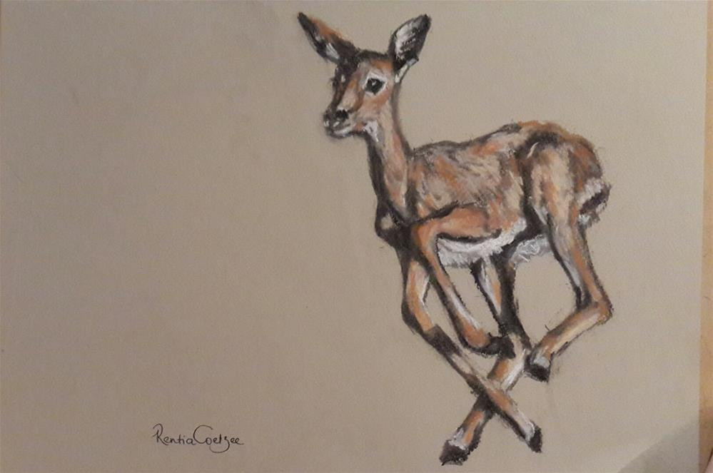 """The sprint"" original fine art by Rentia Coetzee"