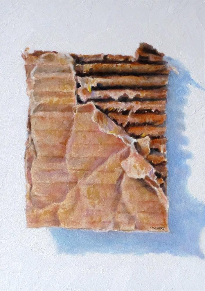 """Cardboard"" original fine art by Linda Demers"