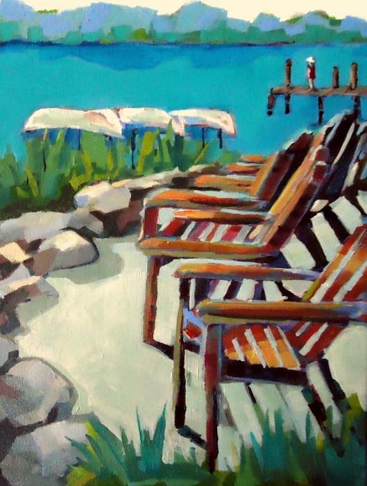 """Dock of the Bay"" original fine art by Laurie Mueller"