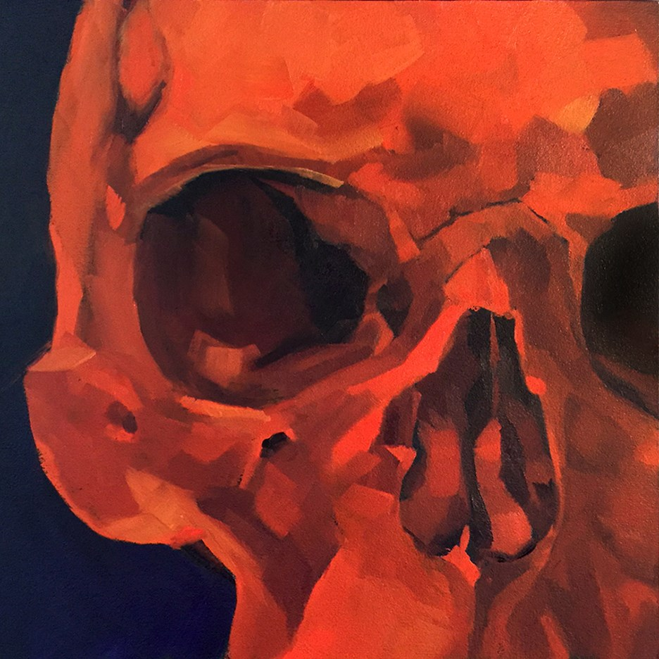 """Skull Study"" original fine art by Elizabeth Dawn Johnston"
