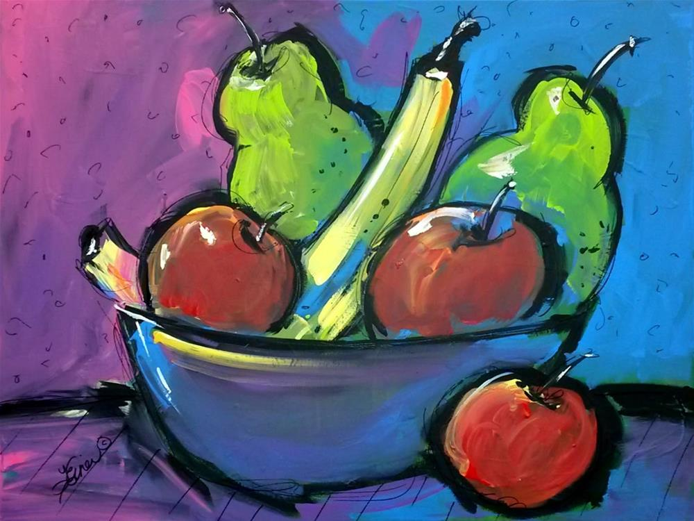 """It's Fruity!  Day 29, 30 in 30"" original fine art by Terri Einer"