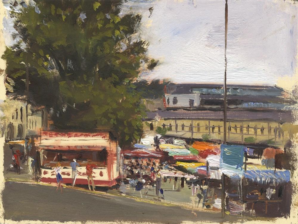 """""""The Antique Market, Bath"""" original fine art by Adebanji Alade"""