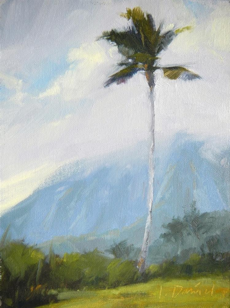 """Mountain Fog - Hawaii"" original fine art by Laurel Daniel"