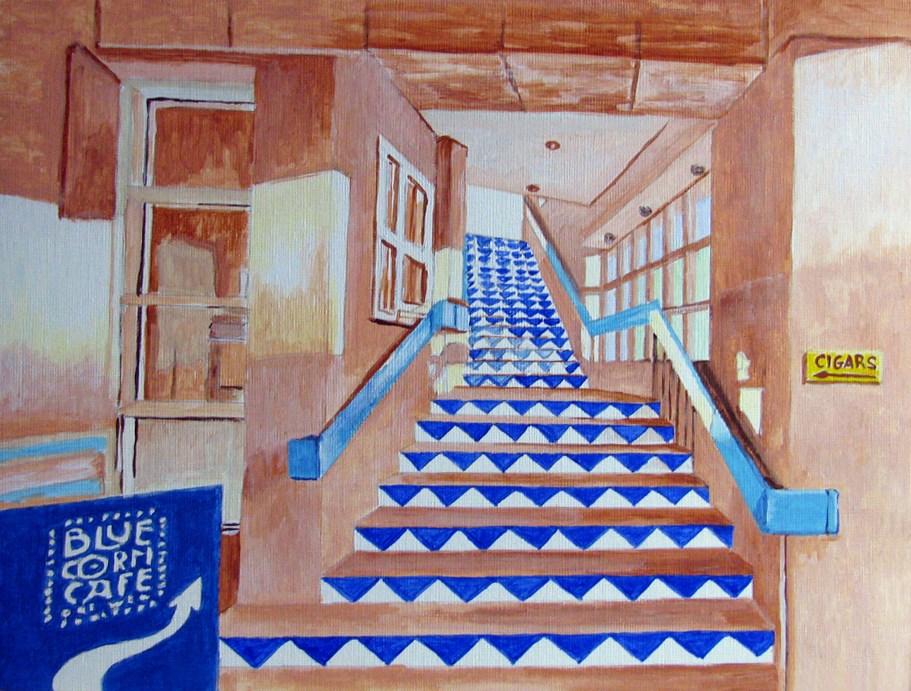 """Blue Corn Cafe"" original fine art by Nan Johnson"