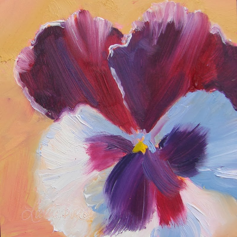 """Pansy II 112"" original fine art by Laura  Buxo"