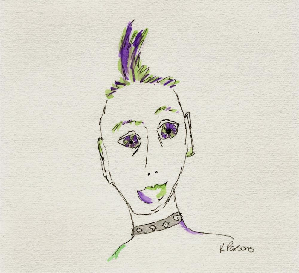 """Rockin' that Mohawk"" original fine art by Kali Parsons"