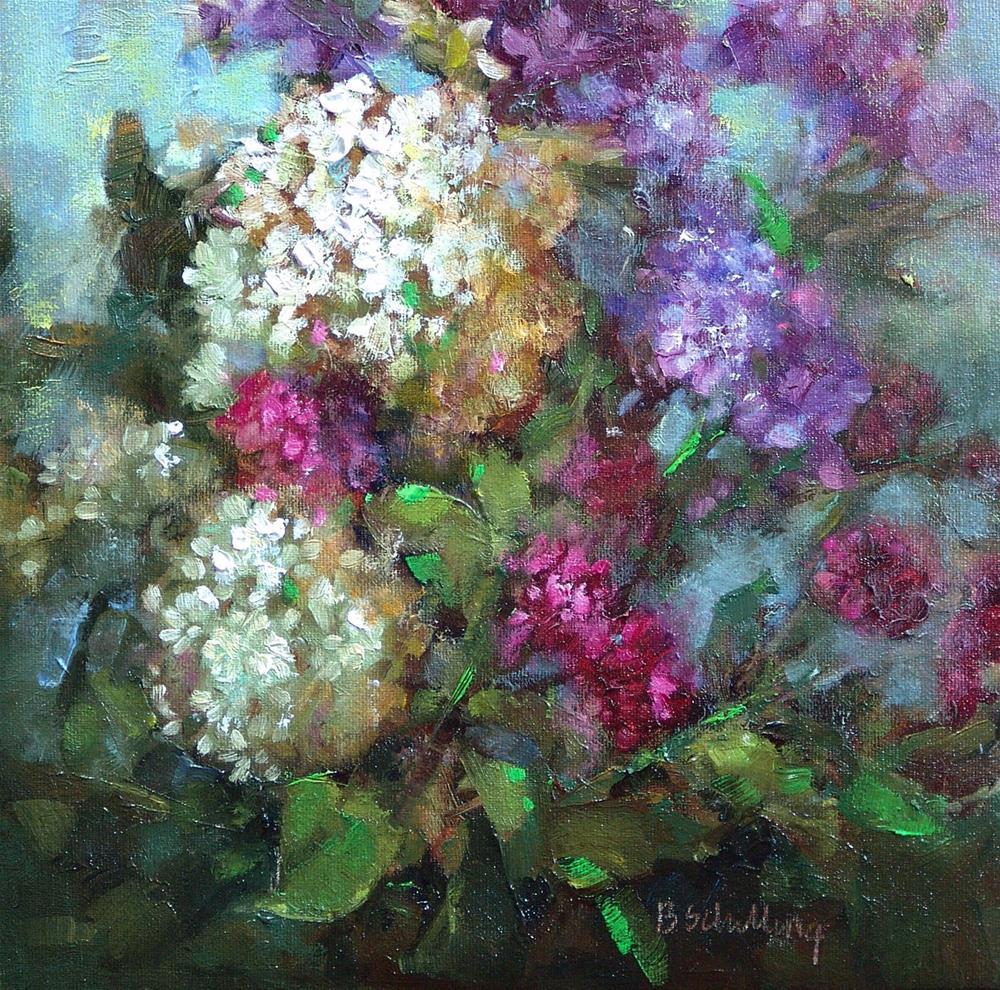 """Hydrangea  in the Sun"" original fine art by Barbara Schilling"