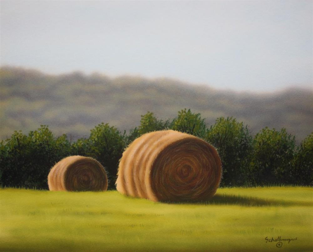 """Orchard Grass Hay"" original fine art by Fred Schollmeyer"