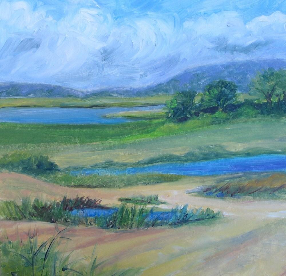 PLum Island #2 - Just Mowed original fine art by Lynne Schulte