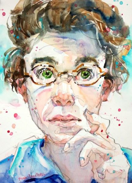 """inquisitive"" original fine art by Nora MacPhail"