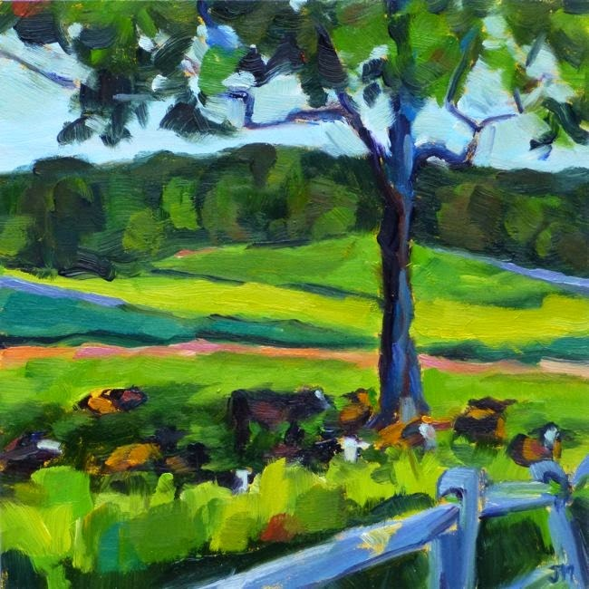 """Cows at Stone Barns"" original fine art by Jessica Miller"