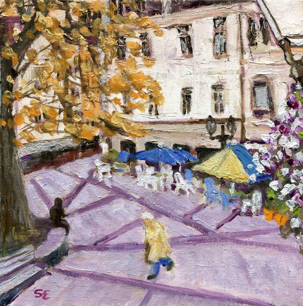 """Rue Abbé Henri Muller, Ettelbruck, Luxembourg"" original fine art by Stanley Epperson"