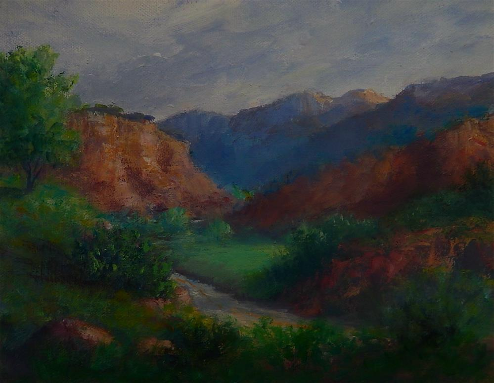 """The Road Below"" original fine art by Sharon Kay Baker"